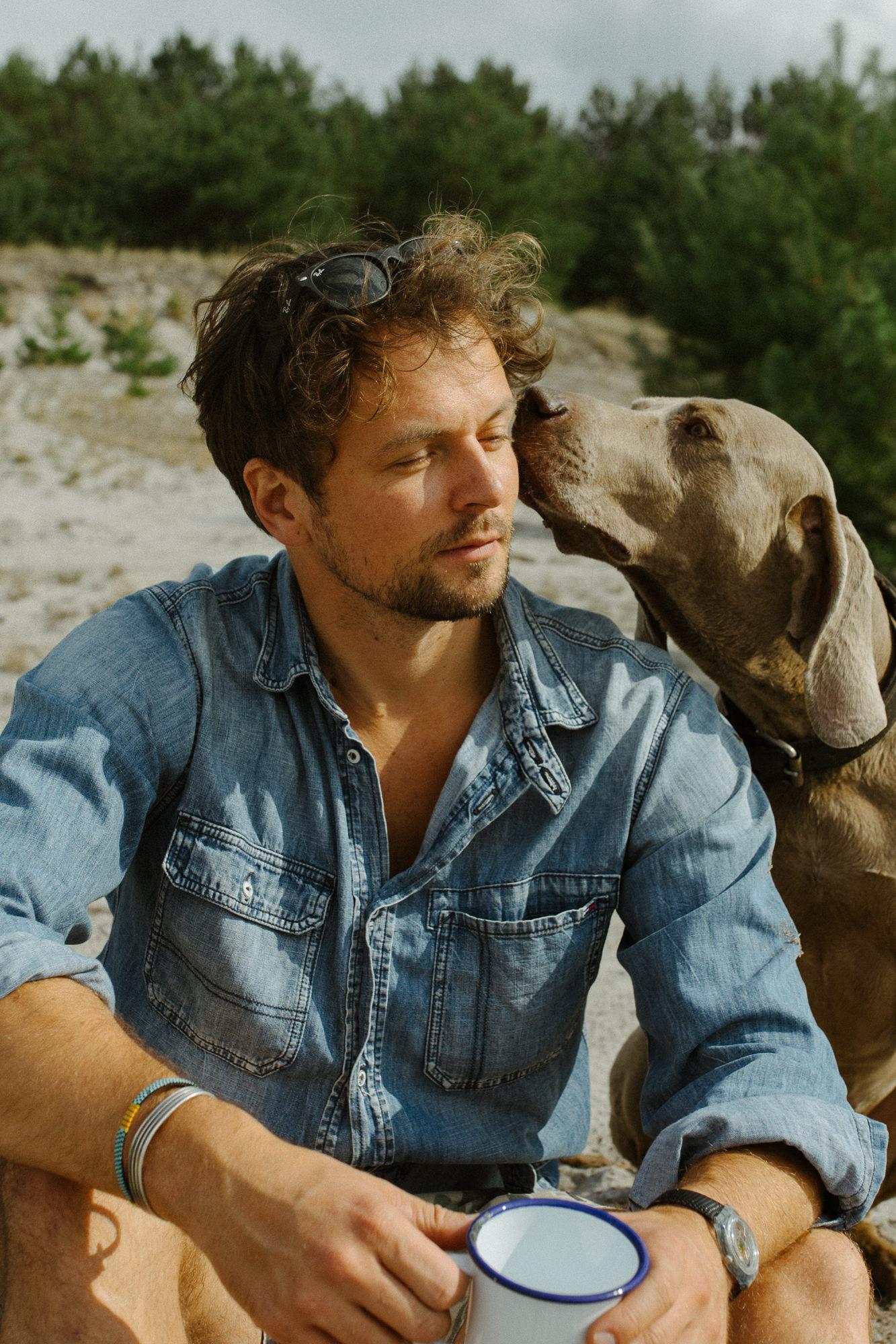 Schauspielerfoto Justus mit Hund